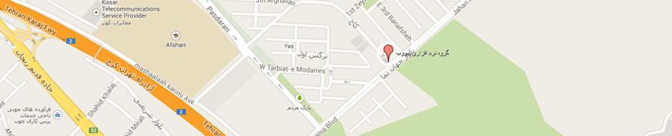 نقشه گوگل گروه نرم افزاری نیووب